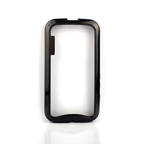 Coromose Dual-color Soft TPU Frame Bumper Case Cover for MOTO E XT1021 (Black)