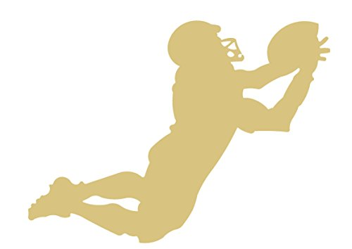 Football Player-1 Cutout Unfinished Wood MDF Cutouts Decor Sports Theme USA Made (6