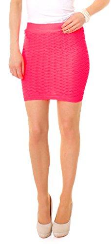 Mujer Fashion Mini Stretch Rock Business/Tiempo Libre Rock Verano/Party Rock rosa neón
