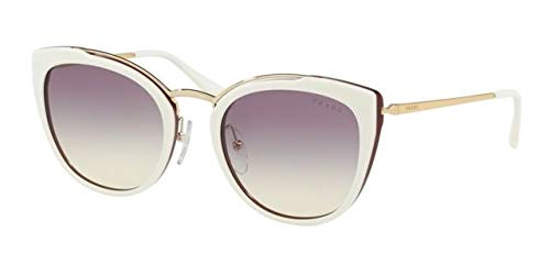 Prada Women's 0PR 20US Ivory/Purple Red/Violet Gradient Yellow One ()