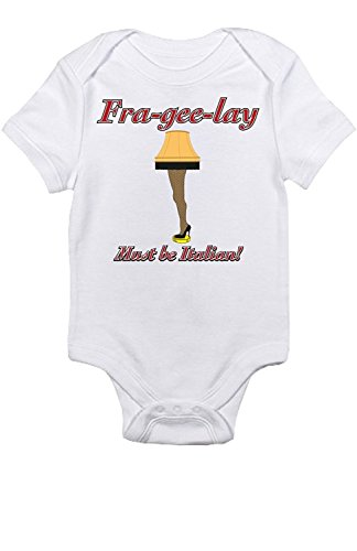 Promini Cute Baby Onesie - A Christmas Story Leg Lamp - Funny Bodysuits Baby ()