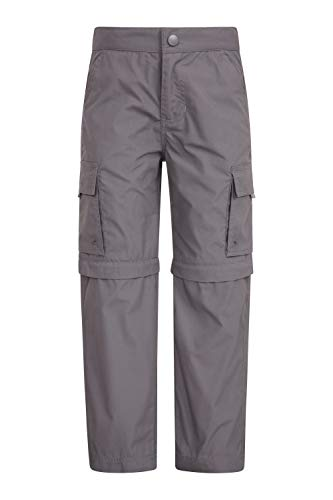 - Mountain Warehouse Active Kids Convertible Trousers - Hiking Pants Dark Grey 11-12 Years