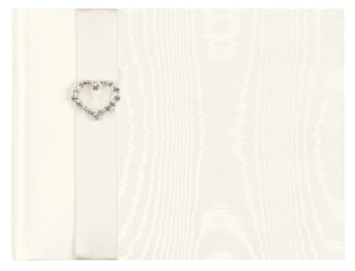 CR Gibson Jeweled Heart Wedding Guest Book (Pack of 2)