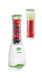 Severin Fit for Fun SM 3735 Standmixer Smoothie Mix und Go, 600 ml, weiß / grün