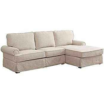 4bd0eb2c Amazon.com: Furniture of America Bellethorne Right Facing Sectional ...