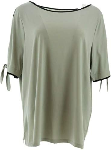 Belle Kim Gravel Color Tipping Split Elbow SLV Top A305581 / Belle Kim Gravel Color Tipping Split Elbow SLV Top A305581