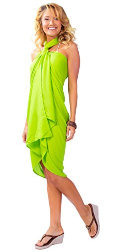 Sin Green Jumpsuit Lemon Mujeres para Sarong Sarongs Uni 1 Volantes World ZcOSwpEq