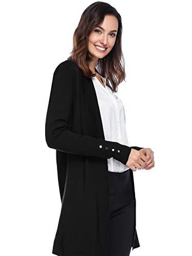 Spicy Sandia Women's Open Front Lightweight Knit Cardigans Long Sleeve Sweaters