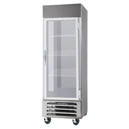Beverage-Air FB23-1G 24'' Vista Series One Section Glass Door Reach-In Freezer 23 cu.ft. Capacity Stainless Steel Front Robust Gray Painted Exterior Sides Aluminum Interior with Bot by Beverage Air