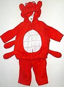 [Carter's Halloween Costume Baby Crab Red Fleece 2 Pcs 18 Months NEW] (Crab Costumes)