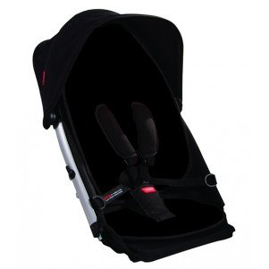 phil&teds Doubles Kit for Verve Stroller, Black/Red by phil&teds (Image #1)