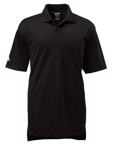 Pique Polo Adidas Climalite - adidas Men's Climalite Basic Short-Sleeve Golf Polo-Black-XL