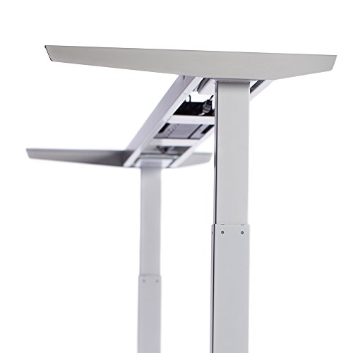 ApexDesk Elite Series 60'' W Electric Height Adjustable Standing Desk (Memory Controller, 60'' White Top, Off-White Frame) by ApexDesk (Image #1)