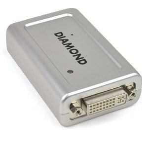 Diamond BVU160 USB 2.0 to DVI-I Multi-Display Adapter w/VGA Adapter - Turn any USB Port into an Additional Video Output!