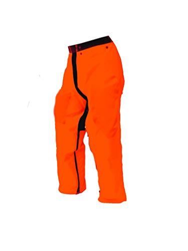 Forester Chainsaw Safety Chaps - Full Wrap Zipper - Orange (Regular (37') Fits Most 5'4' to 6' Tall)