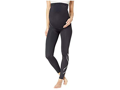 2XU Women's Pre-Natal Active Compression Tights Black/Silver X-Large 25 by 2XU (Image #3)