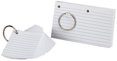 Esselte Corporation ESS63506 Oxford Justflip-It Punched Perfed Study Cards by Esselte