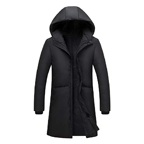 Coat Long Mens Warm RkBaoye Outwear Hood Puffer Thick Black Mid Down Zipper F6qEwfv