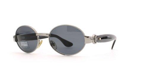 Gianfranco Ferre 421 1TM Black and Silver Authentic Men - Women Vintage - Sunglasses Gff