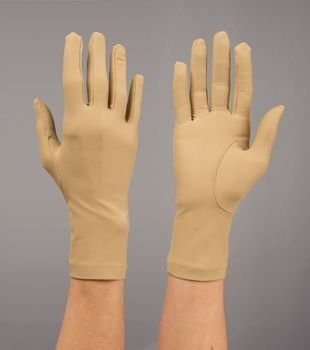 Sammons Preston Rolyan Compression Gloves, Wrist Length (519001 Full Finger Gloves (sold individually and in pairs) Pairs Small Seams on inside) by Sammons Preston