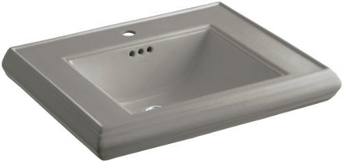 KOHLER K-2259-1-K4 Memoirs Pedestal Bathroom Sink Basin with Single-Hole Faucet Drilling, Cashmere 1 K4 Cashmere Pedestal
