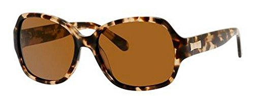 Kate Spade Women's Laney Polarized Rectangular Sunglasses, Camel Tortoise, 57 - 130 Kate Spade Sunglasses