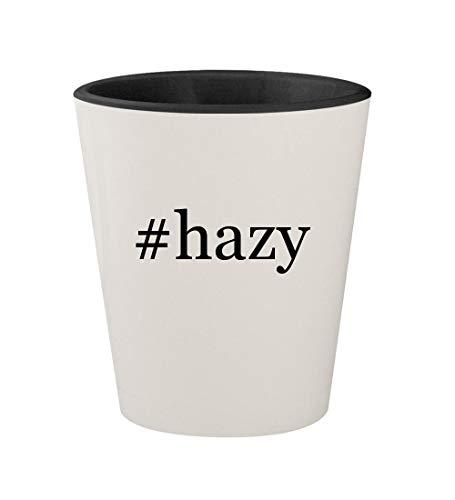 #hazy - Ceramic Hashtag White Outer & Black Inner 1.5oz Shot Glass