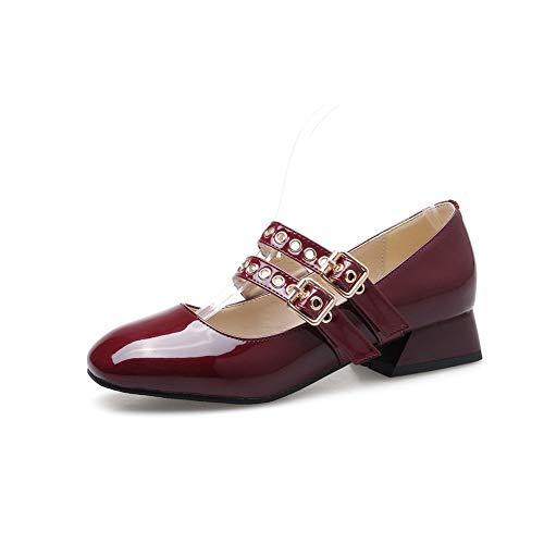 SDC05812 Rouge Femme 36 5 Compensées Bordeaux EU AdeeSu Sandales FwUvw
