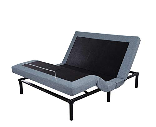LEISUIT Adjustable Bed Frame with Back & Foot Massage, - Hospital Bed Full Size