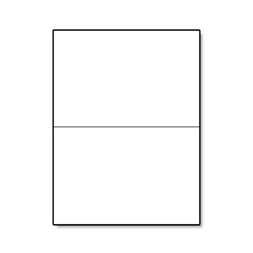 "Hamilco White Cardstock Thick Paper - 5 x 7"" Blank Folded Cards - Greeting Invitations Stationary - Heavy weight 80 lb Card Stock for Printer - 100 Pack (100 Pack)"