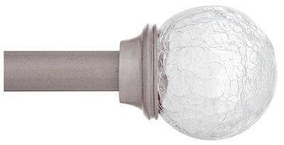 "KENNEY KN75300 Pewter Walden Curtain Rod, 28""-48"""