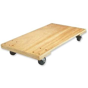 Birch Solid Deck Hardwood Dolly, 1000 Lb Capacity, 18u0026quot; X 30u0026quot; X
