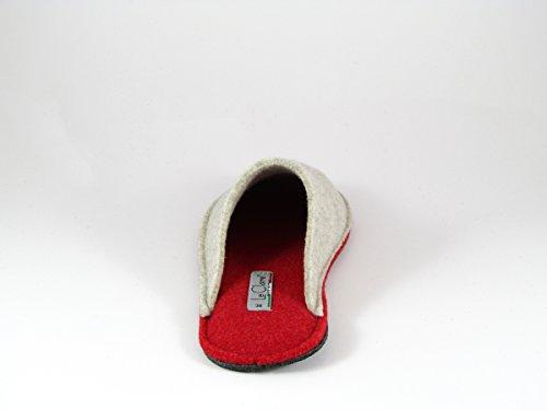 Pantofole da Donna Invernali Rosso/Beige