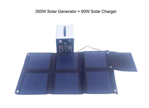 MEGASOLAR 300W Solar Generator Solar System with 288Wh LiFePO4 battery, Solar & AC Input, 300w 110v AC Inverter 4 USB 2 QC3.0 312v 15v 20v DC output, TFT Display, charged by Solar Charger Solar Panel by SZMJSOLAR (Image #7)