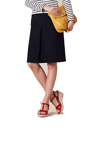 BODEN Navy Blue Inverted Pleat Skirt WG433 Size US 16 L