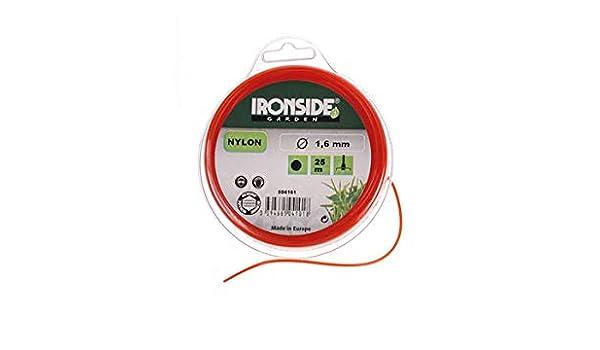 Ironside M261647 - Hilo Redondo desbrozadora 1 6 mm x 25 m Color ...