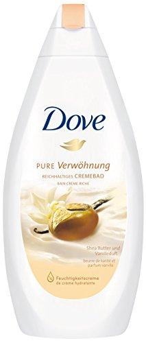 Dove Reichhaltiges Cremebad Pure Verwöhnung Shea Butter & Vanilleduft, 3er Pack (3 x 750 ml)