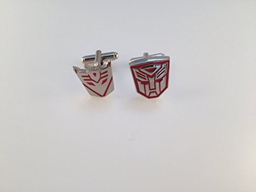 Transformer Cufflinks, Autobot Cufflinks, Decepticon Cuff Links, Red Transformers, Wedding Cuff Links, Father's Day, Graduation
