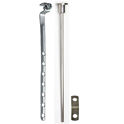- PF WaterWorks PF0906-BNUniversal Lavatory Pop-Up Drain Lift Rod Assembly - Pull Rod, Linkage, and Spring ClipBrushed Nickel1Piece