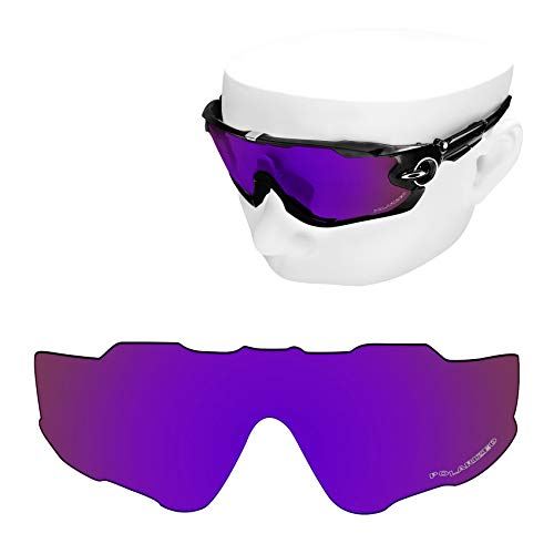 OOWLIT Replacement Lenses Compatible with Oakley Jawbreaker Sunglass Cosmic Combine8 Polarized