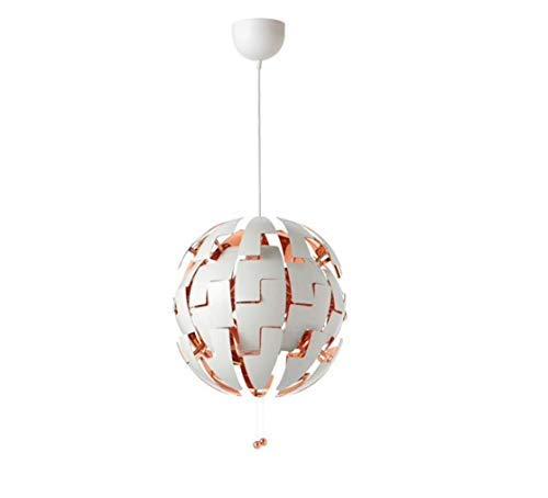 White And Copper Pendant Light