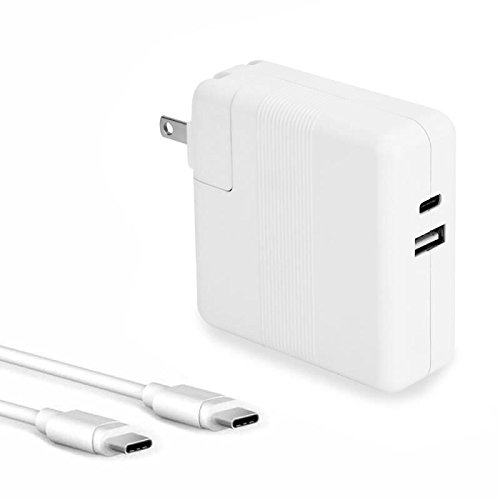 29W USB Type-c PD Power Adapter,for Fast Charge for iPhone X/8/Plus, Apple 12 Macbook/Pro, Nintendo Switch, iPad, Samsung and more Compatib with 45W USB-C Wall Charger