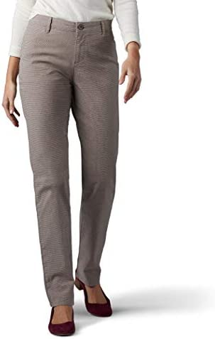 LEE Women/'s Relaxed Fit All Day Straight Leg Pant deep Breen 10 Short
