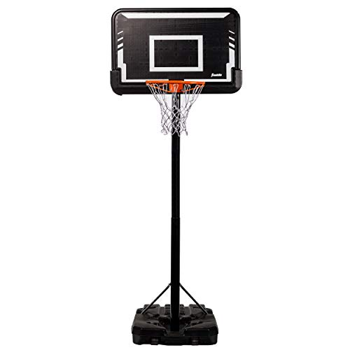 Franklin Sports Basketball Hoop - Pro Court - Authentic - Portable Basketball - Street - 44 Inch- Basketball Hoop - Kids - Adults - Driveway - Adjustable Height