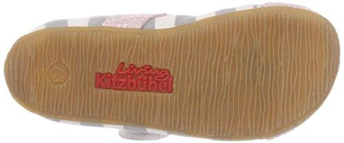 Hellgrau amp;Lederkappe Kitzbühel Fille Chaussons Streifen Living Ballerina Grau q8nSRF7