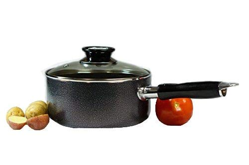 MODIN Hard Aluminum Alloy Nonstick Saucepan with Glass Lid and Riveted Handle 3-Quart(8 inch Diameter x 4 inch Tall) by Modin (Image #4)