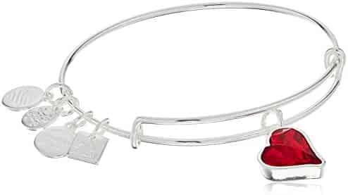 Alex and Ani Womens Charity by Design Heart of Strength Bangle - (Product) RED