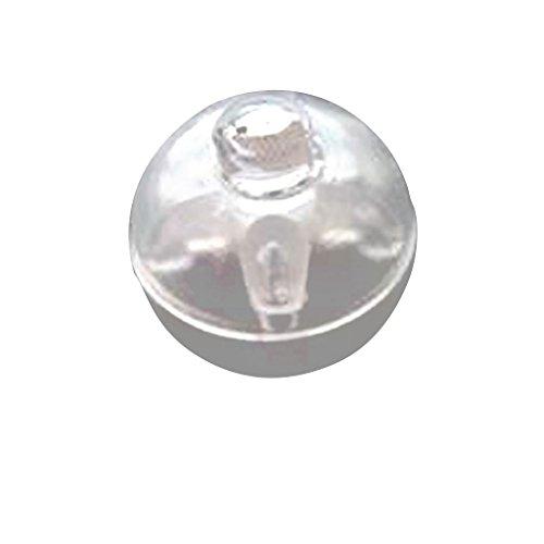 50x Mini LED Führte Ballon Lampe Nachtlicht für Hochzeit Weihnachten Geburtstag - Gelb, 29
