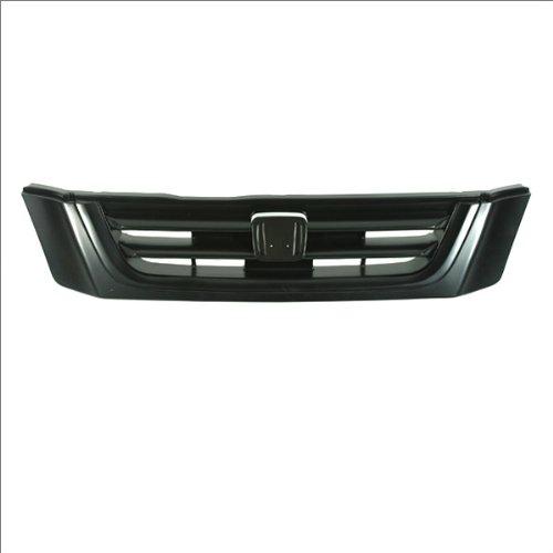 (CarPartsDepot, 4D SUV Front Grille New Bar Grid Raw Mat Black Grill Molding Assembly, 400-202833 HO1200151 HO1200151 )