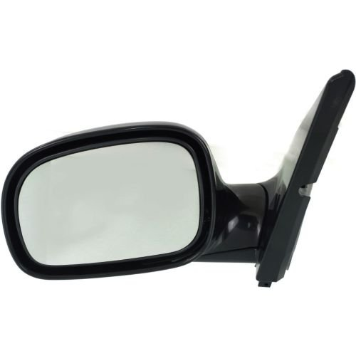 (Make Auto Parts Manufacturing Left/Driver Side Non-Towing Mirror Manual Operated Non-Heated Manual Folding Paint to Match For Chrysler/Dodge / Plymouth Vans 1996-2000 - CH1320110)